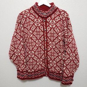 L.L. Bean Nordic Sweater Button Up Men's Large